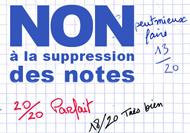 Non à la suppression des notes